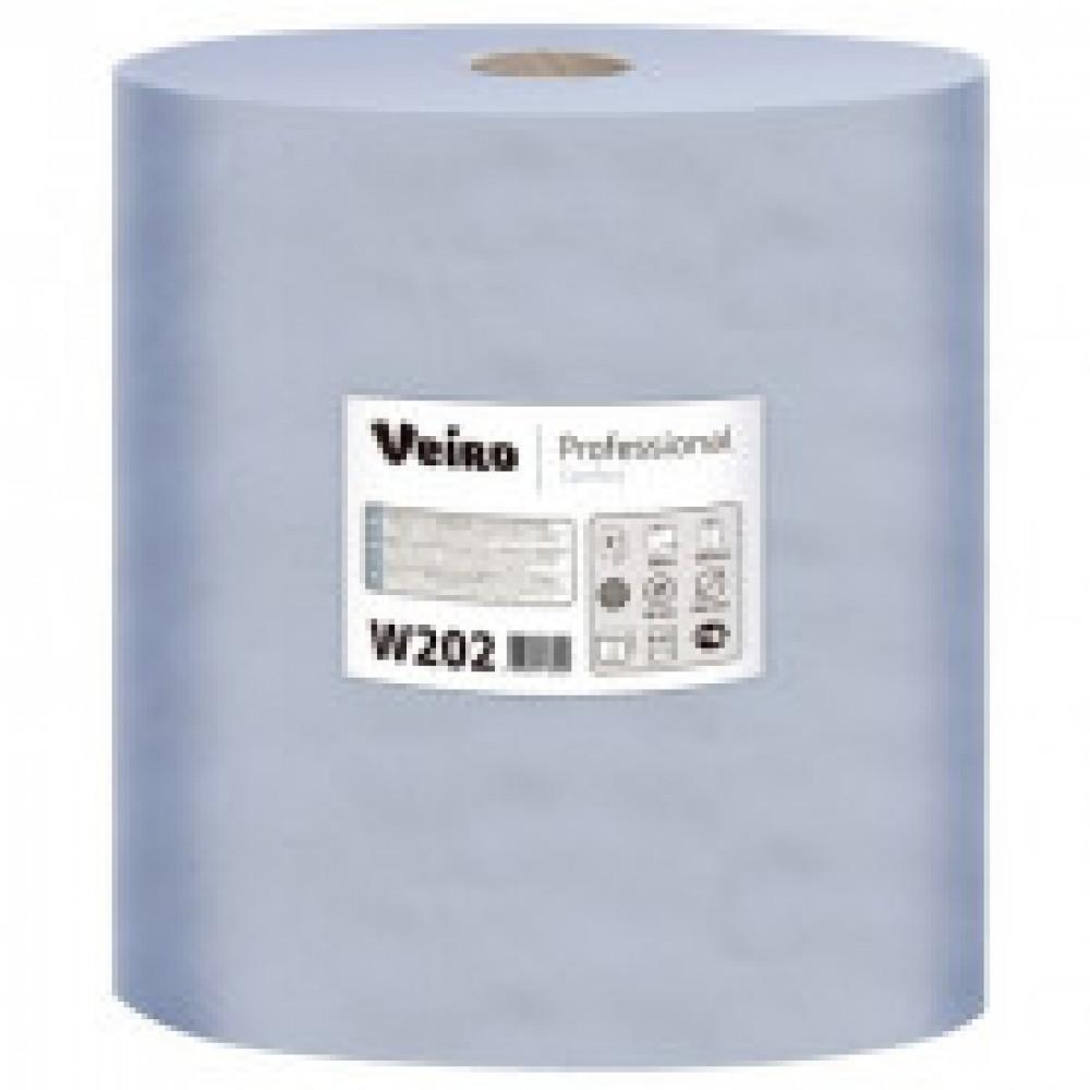 Бумага протирочная Veiro 2сл.1000лx2рул/уп,синий W202