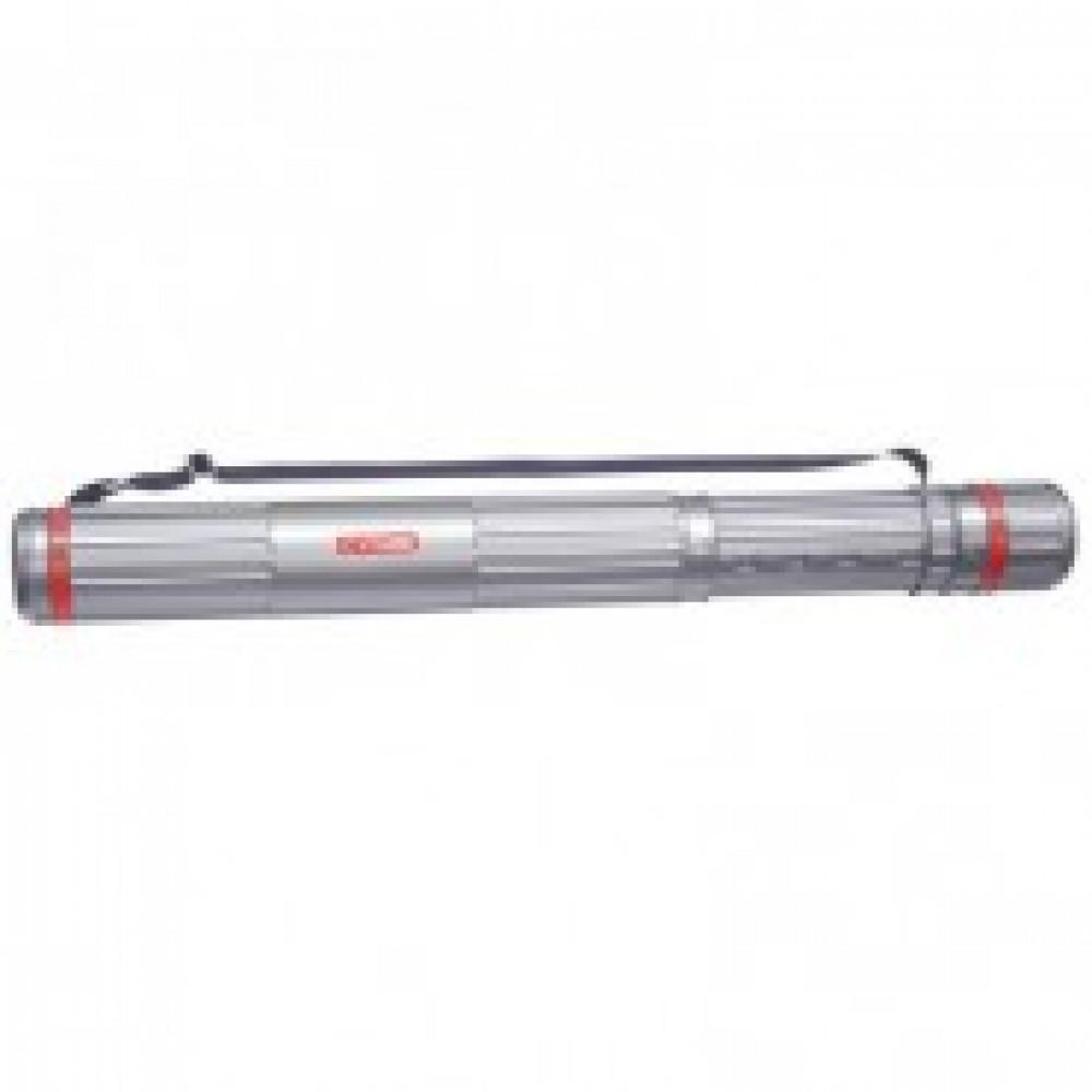 Тубус D90мм,L630-1100мм,серый,на ремне,ПТ-12