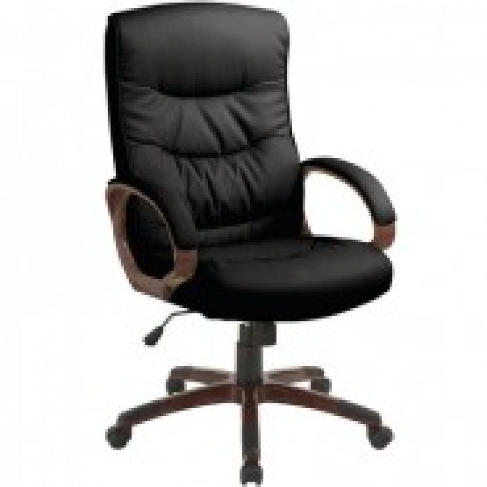 Кресло BN_Dt_Руковод. EChair-633 TR рец.кожа черная, пластик