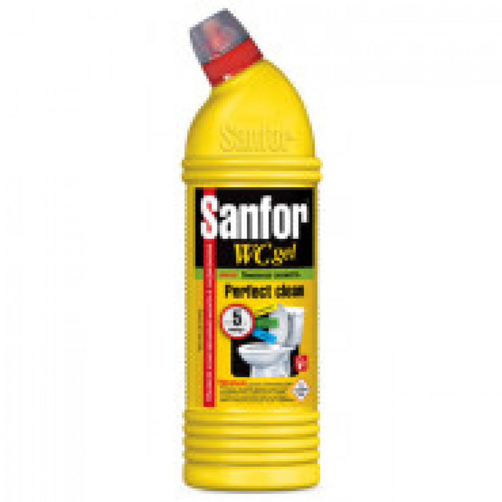 Средство для сантехники SANFOR WС гель 750 г, лимонная свежесть