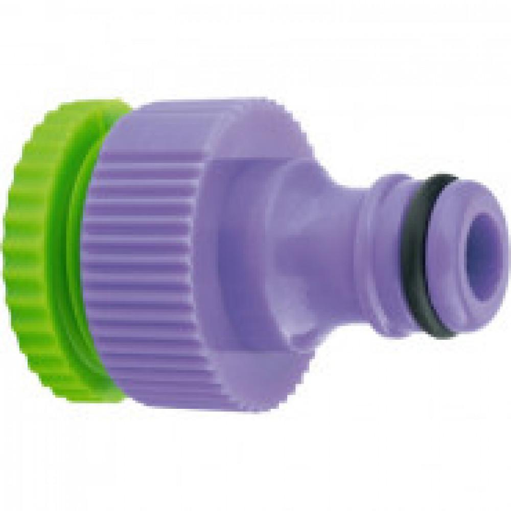 Адаптер для шланга пластмассовый, 1/2-3/4 внутренняя резьба PALISAD (65720)