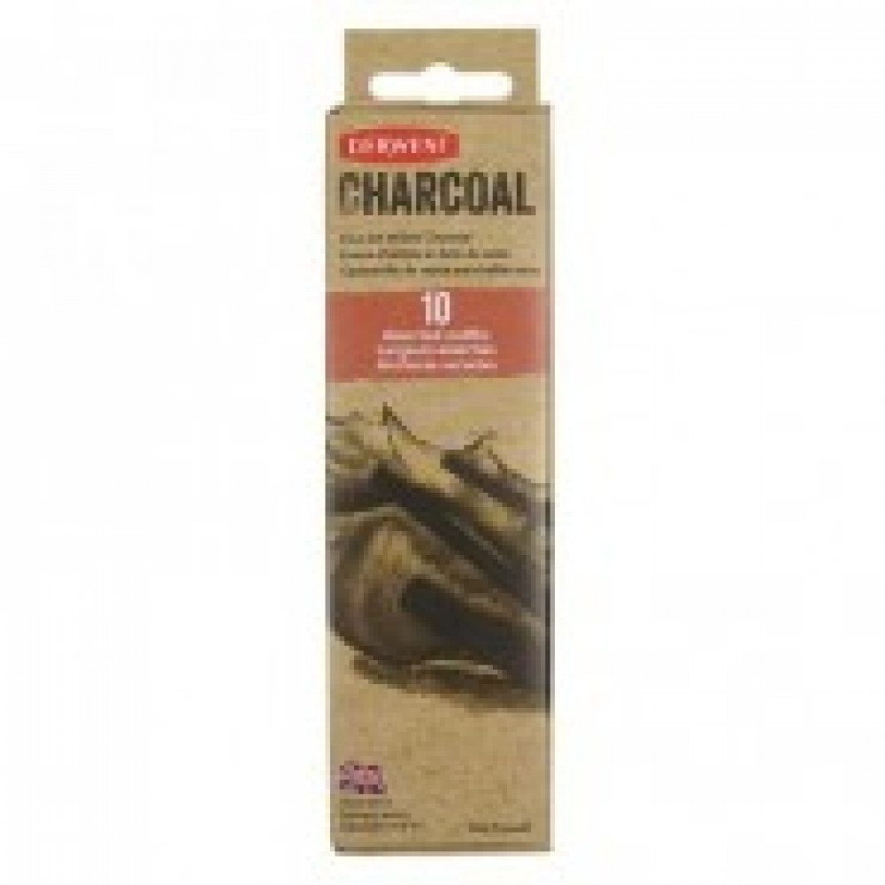 Уголь Derwent Willow Charcoal ивовый 10шт D-2302034