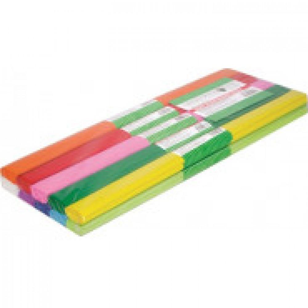 Бумага для творчества креп.бумага, 10рул., 50x250см, 32г/м2,ассорти,CR25090