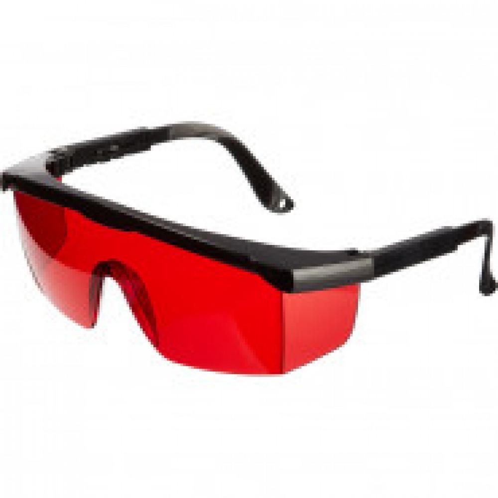 Очки защитные для работы с лазерным инструментом - красные