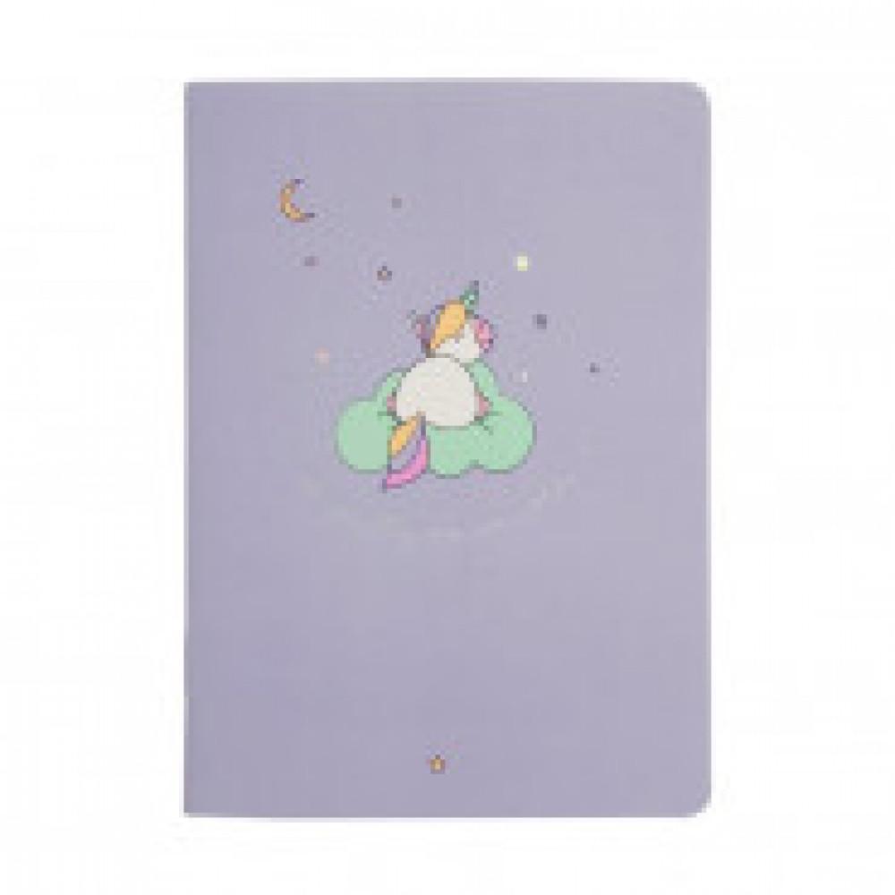 Блокнот А6,32л,клетка,скрепка,мягк.перепл,105х140мм Magic Фиолетовый N1437