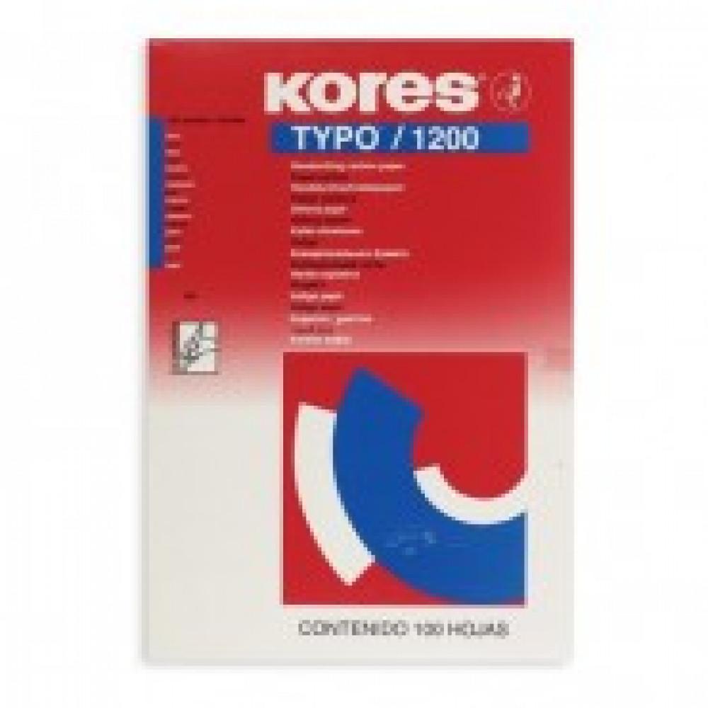 Бумага копировальная синяя KORES 1200 пачка 100л. 78478