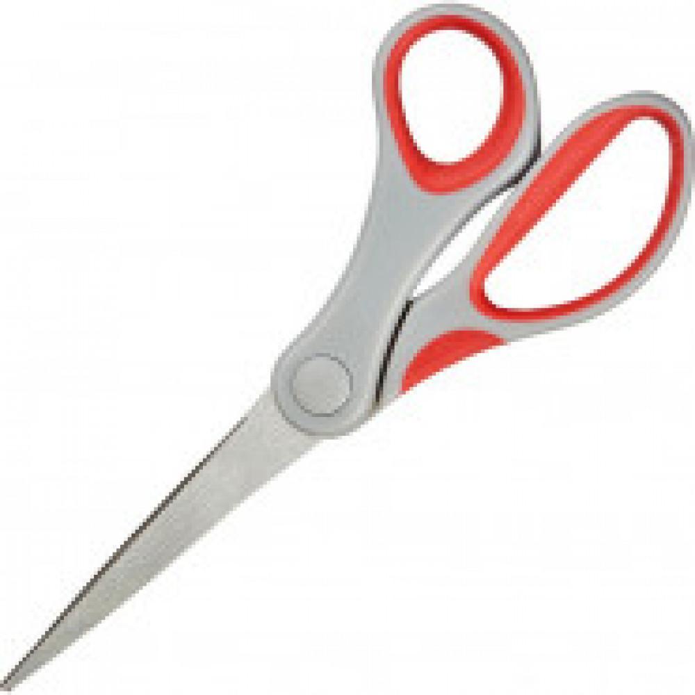 Ножницы Attache 180 мм с пласт. прорезинен. эллипт. ручками, цвет вассорт.