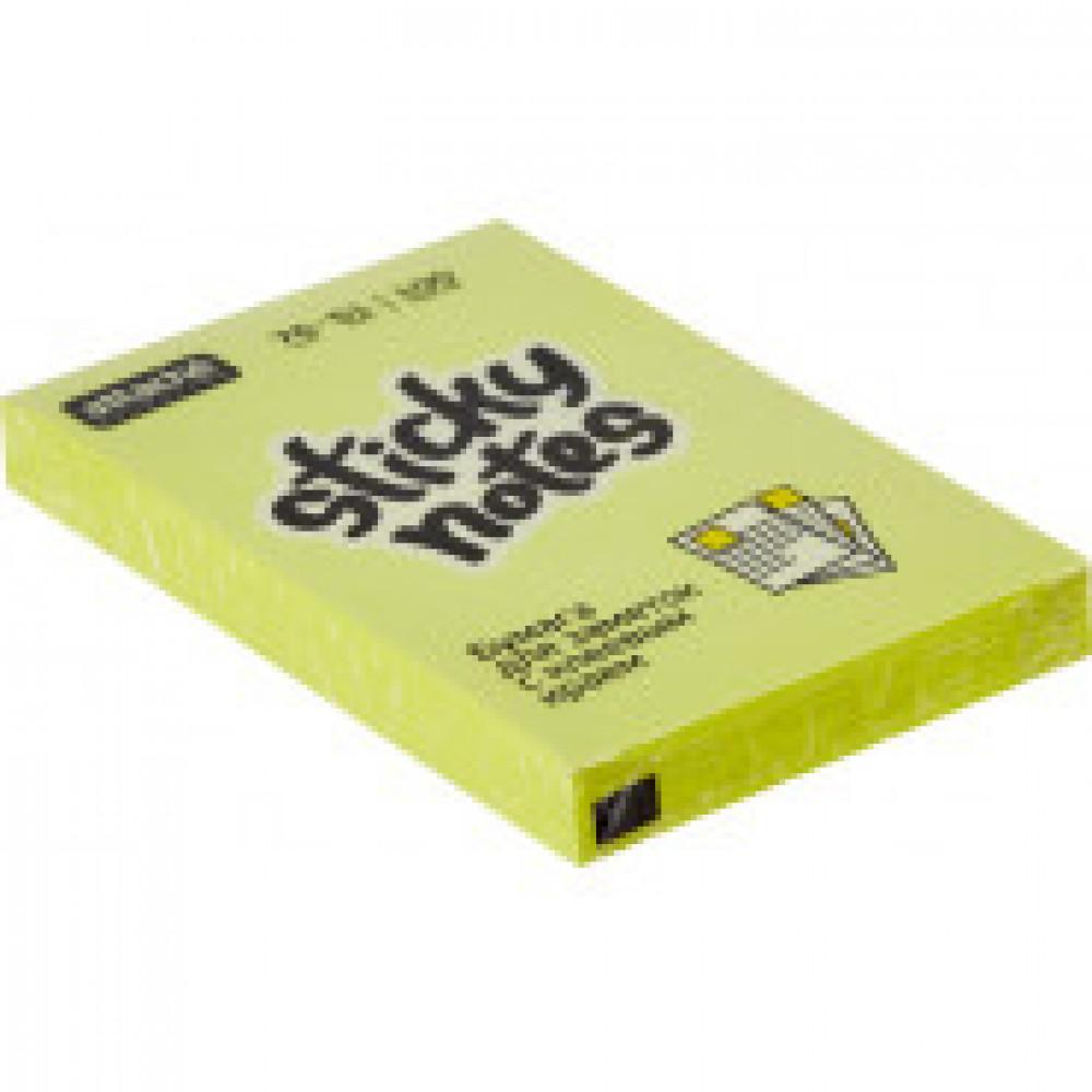 Блок-кубик Attache Selection с клеев. краем 76х51, неон, желтый 100л
