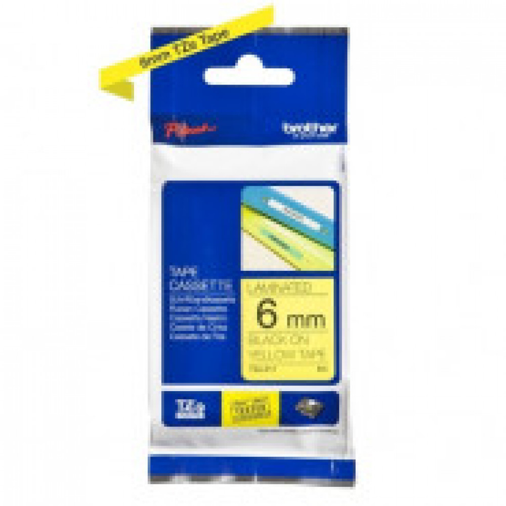 Картридж к этикет-принтеру Brother TZe-611 6мм/8м (черн./желт.) для P-Touch