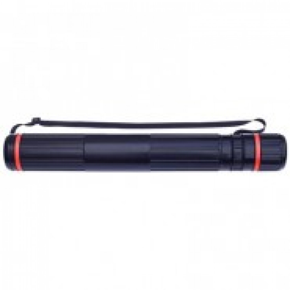 Тубус D90мм, L630-1100мм черный на ремне