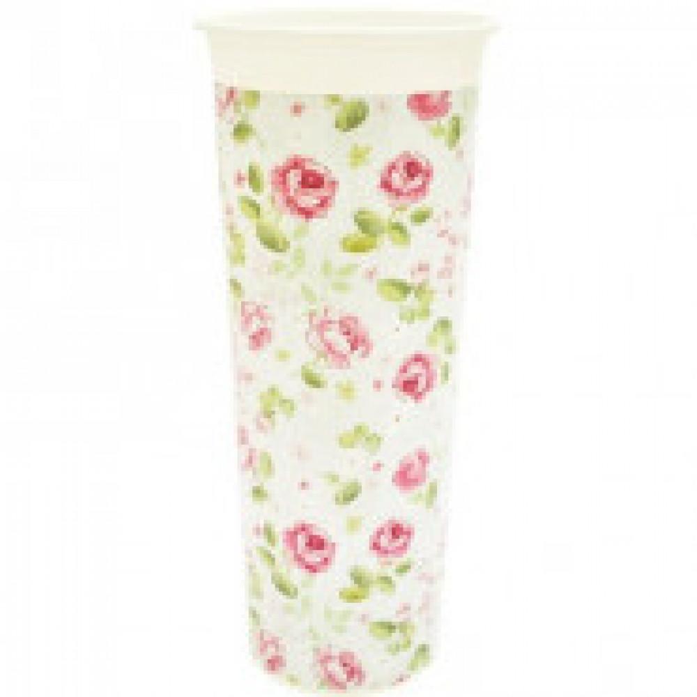Ваза для цветов пластик Розы D11,2см ING40002РОЗ-КМ-НК
