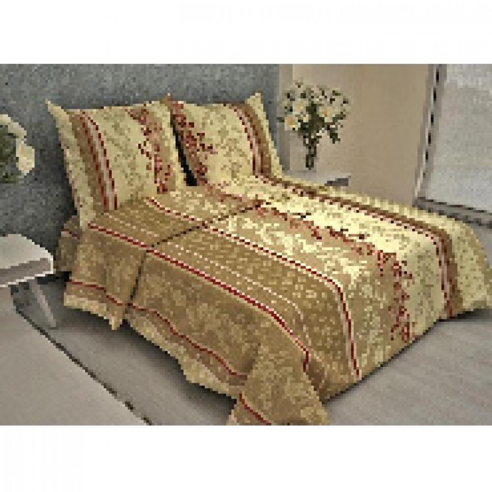 Комплект постельного белья 1,5 сп бязь 105 гр/м2 Орнамент темно-бежевый