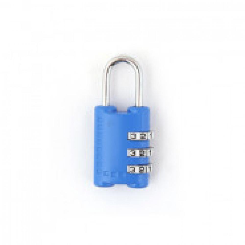 Замок навесной для багажа Apecs PDZ-24-23 код.замок синий