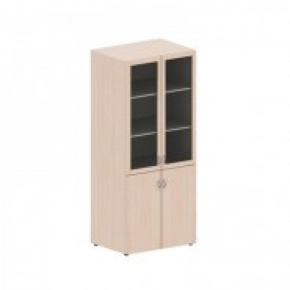 Мебель для школы AT_Easy school+Шкаф широк.со стеклом д/кабинетов клен