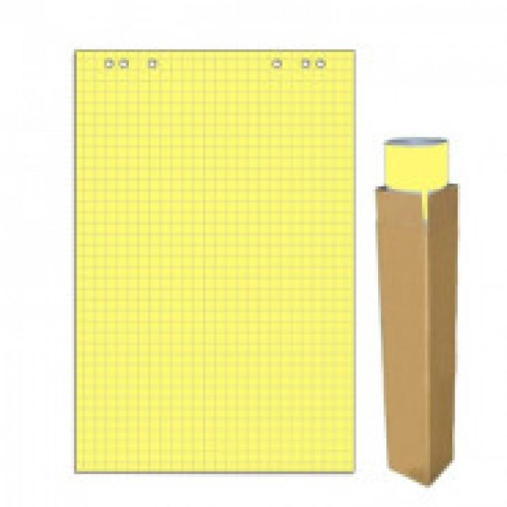 Бумага для флипчартов желтая пастель клетка 68.0х98.0 20 лист.80гр.