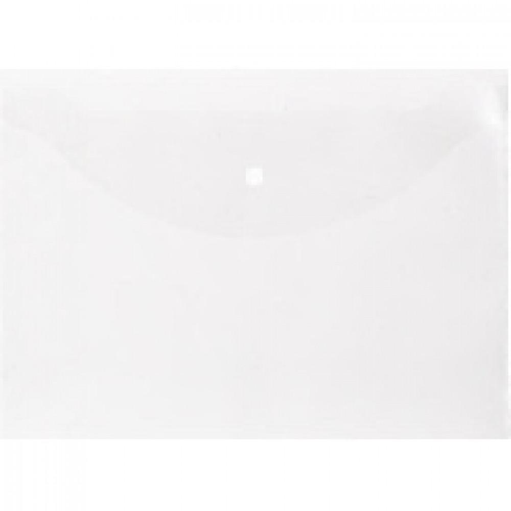 Папка конверт на кнопке Attache Economy А4 100мкм прозрачный 10шт в уп.
