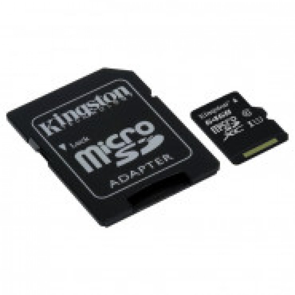 Карта памяти Kingston Canvas Select microSDXC 64Gb, Class 10+ад,SDCS/64GB