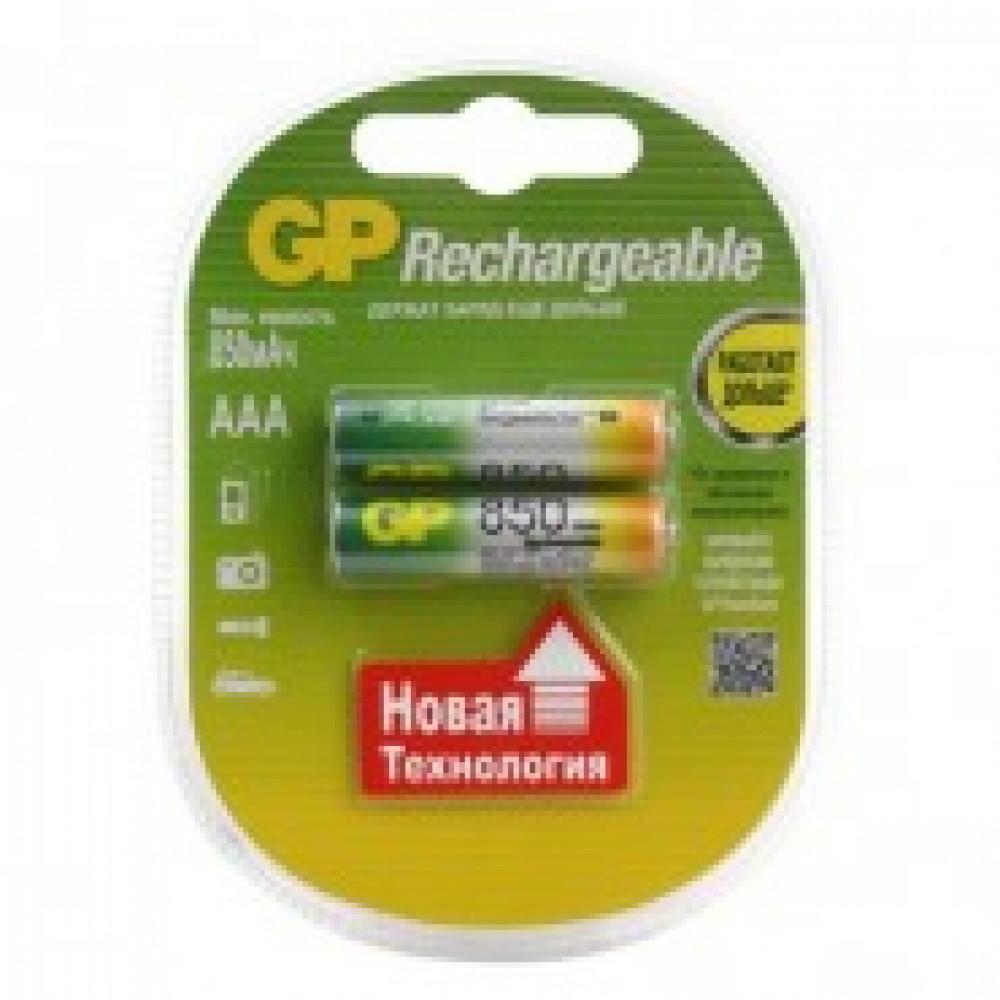 Аккумулятор GP 850mAh AAA/ NiMH (2 шт/бл) GP85AAAHC-2DECRC2