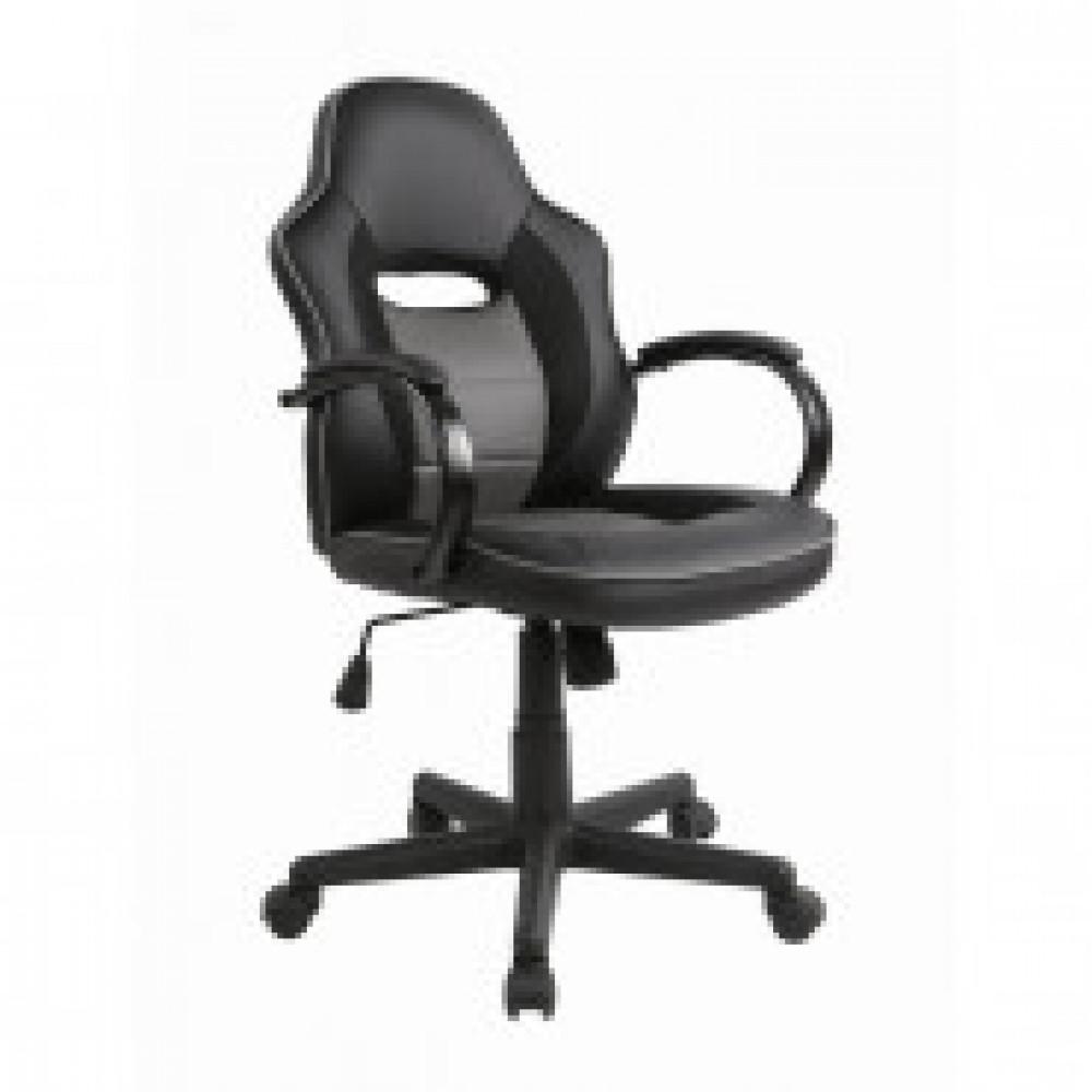 Кресло игровое Easy Chair 659 TPU черное/серое (искусственная кожа/пластик)