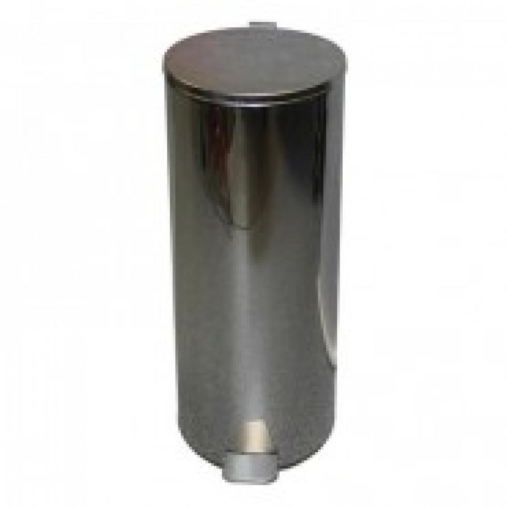 Ведро для мусора с педалью 30 л нержавеющая сталь хром (25х60 см)