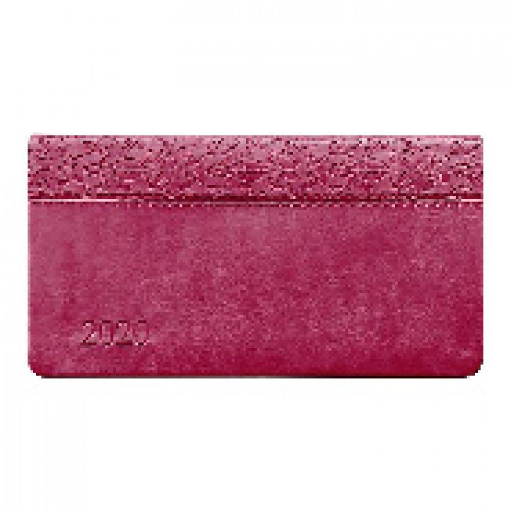 Еженедельник датированный 2020,розовый,А6(16х9см),64л,Dolce Vita I841/pink
