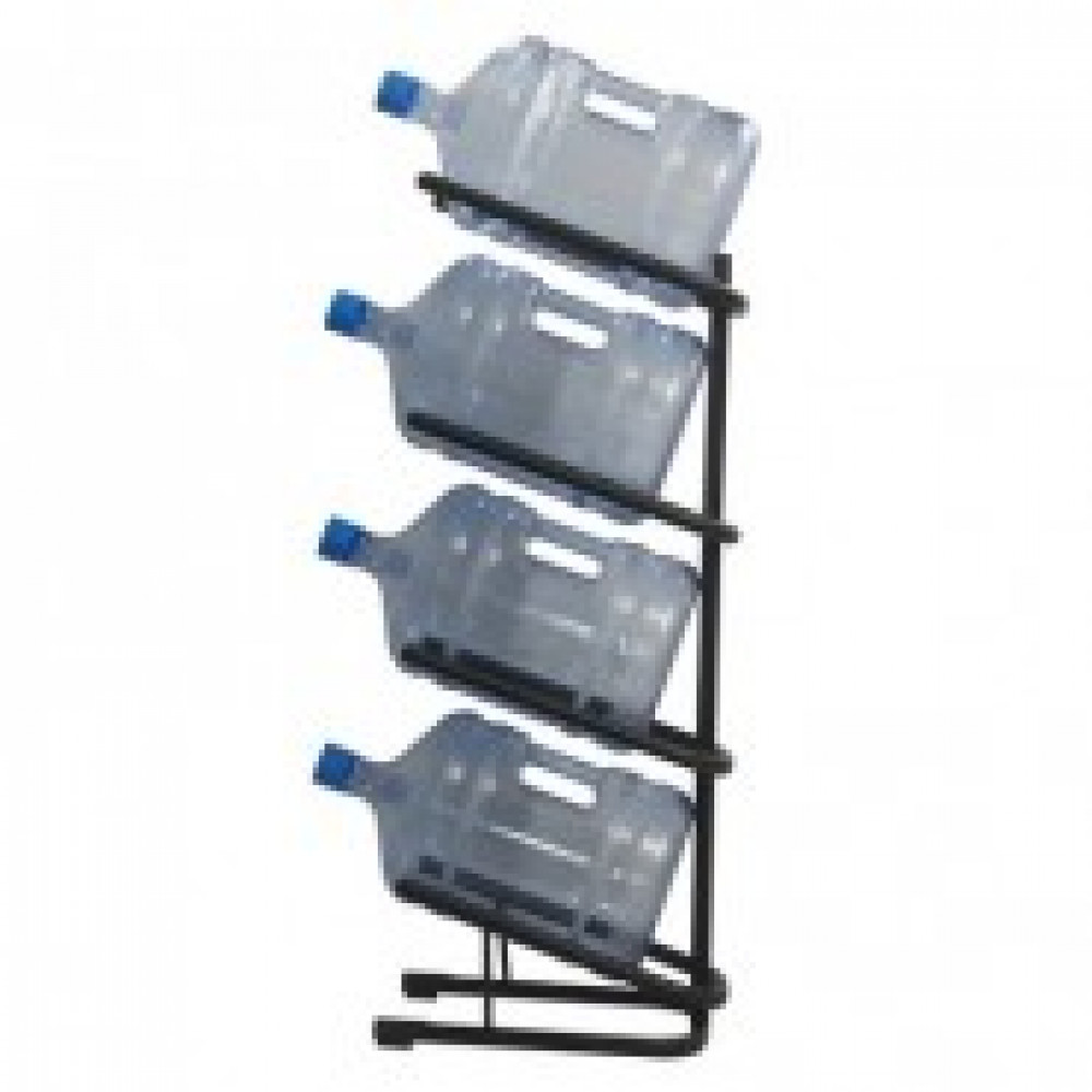 Метал.Мебель KD_Бридж-4 стеллаж для воды бутилир. на 4 тары,цв.черный