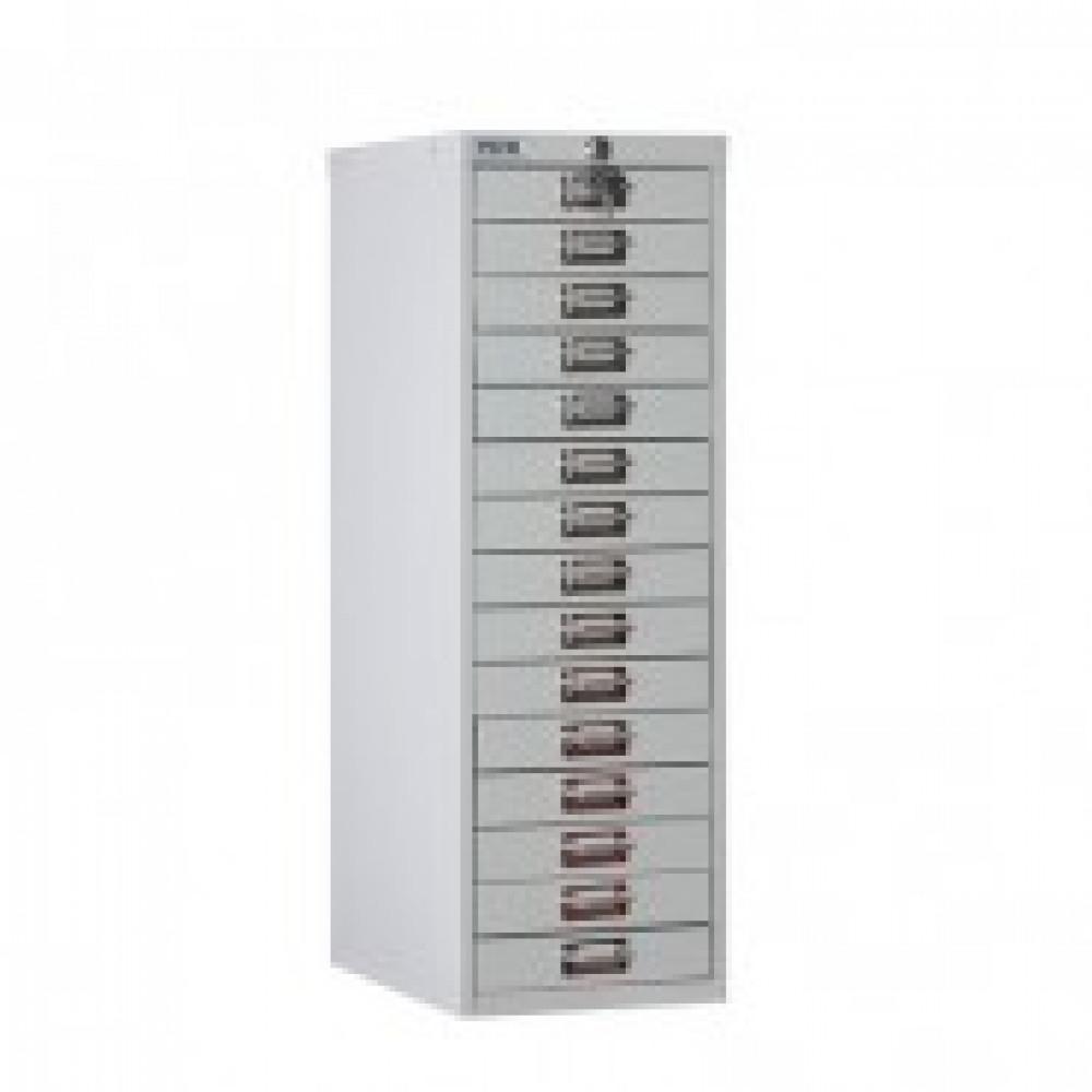 Метал.Мебель ПРАКТИК Шкаф 15 ящ. MDC-A4/910/15 (R7038) серый