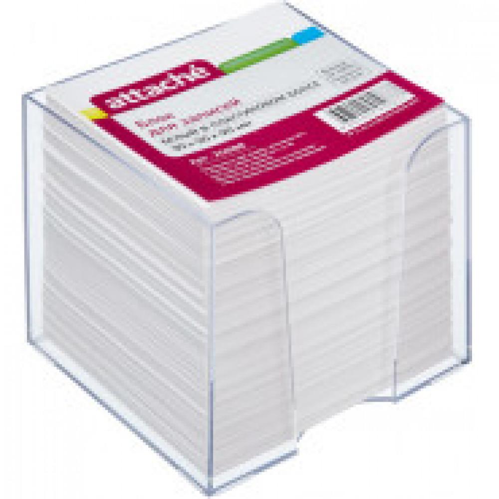 Блок для записей в подставке ATTACHE 9х9х9 белый блок 80 г/90