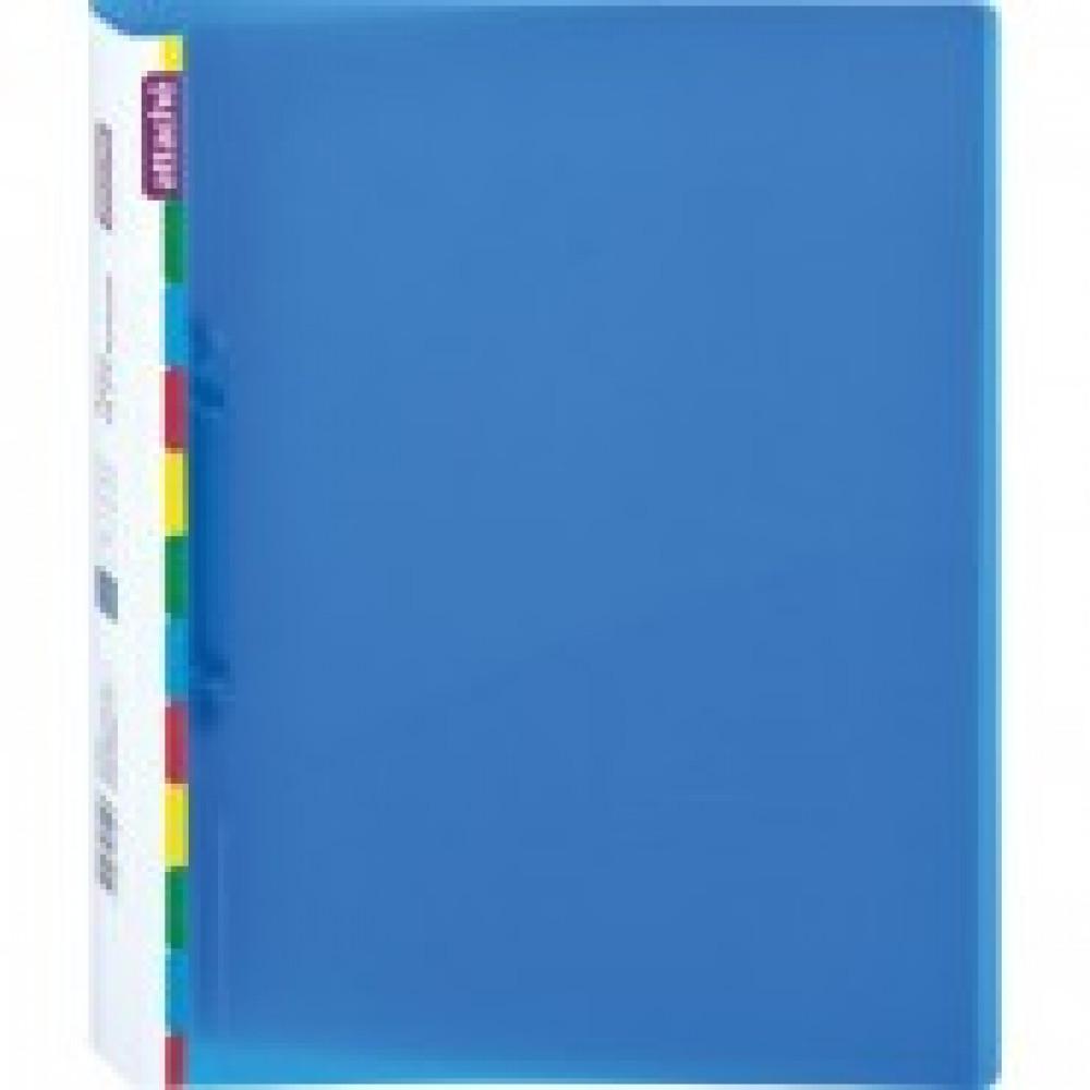 Папка на 2-х кольцах Attache Diagonal 25 мм синяя до 150 листов (пластик 0.5 мм)