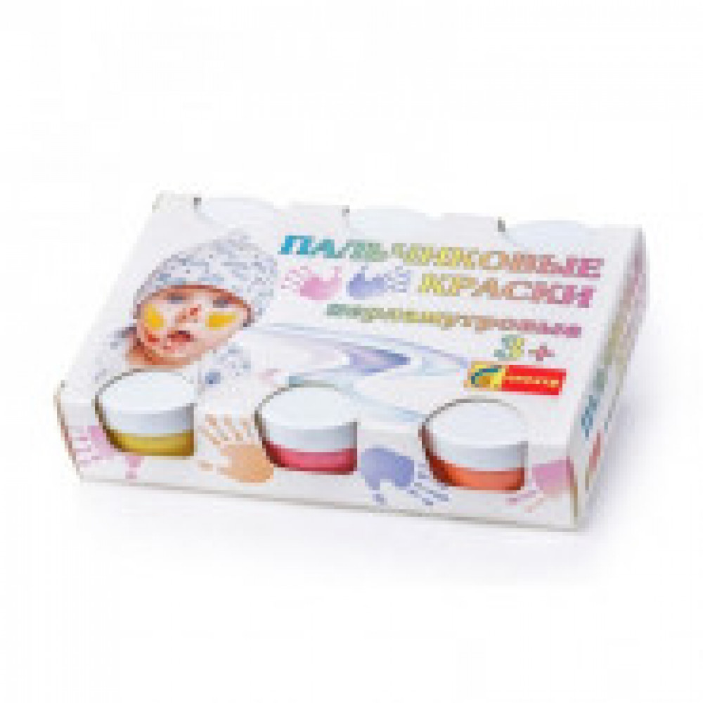 Краски пальчиковые перламутровые,6цв.,360 мл.,13С-507