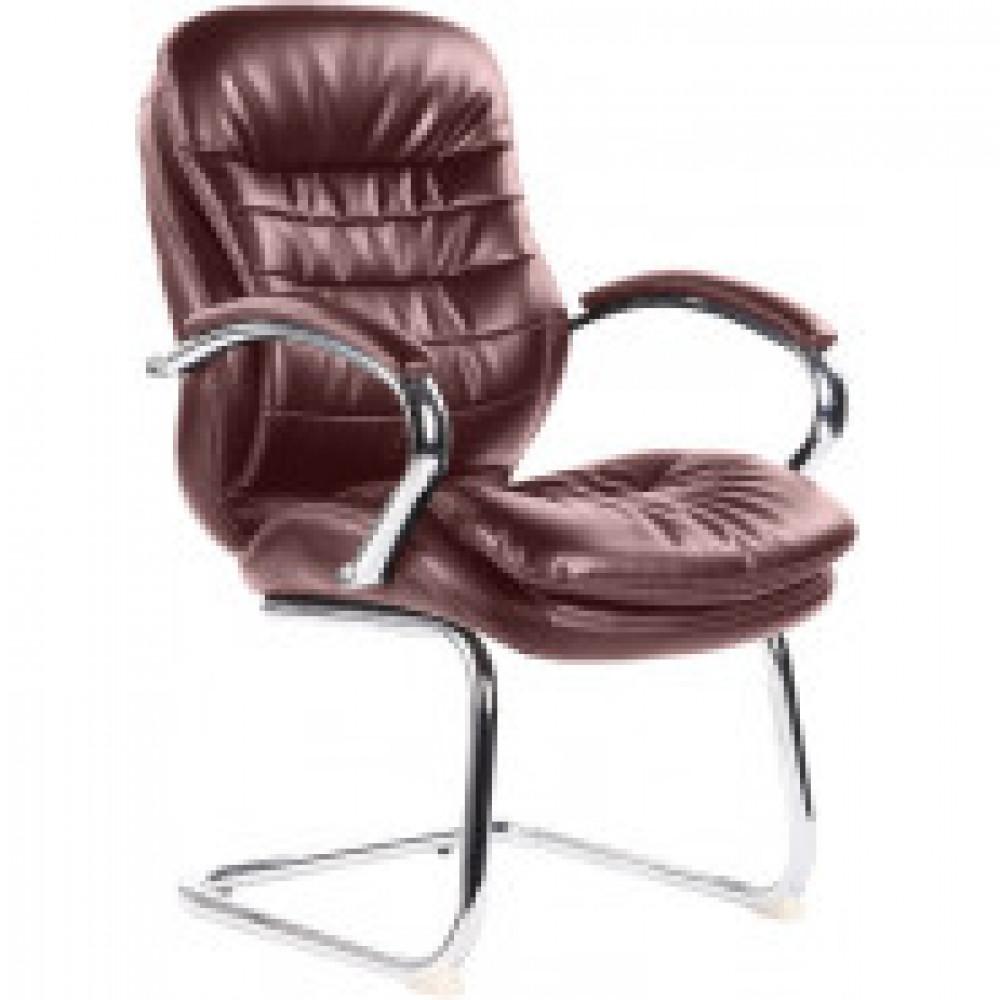 Кресло BN_Dp_Конференц EChair-515 VR рецикл. кожа коричн., хром