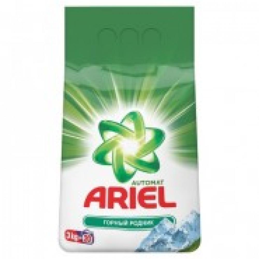 Порошок стиральный Ariel Горный родник автомат 3кг д/белого белья