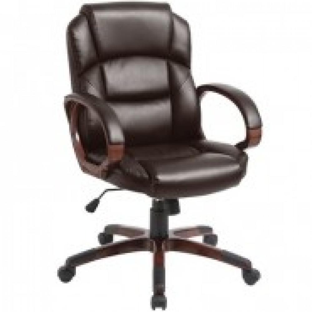 Кресло BN_Dt_Руковод. EChair-634 TR рец.кожа коричн, пластик
