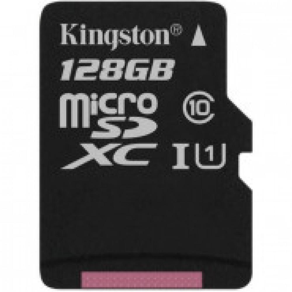 Карта памяти Kingston Canvas Select microSDXC 128Gb, Class 10,SDCS/128GBSP