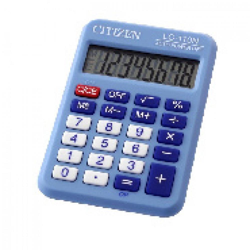 Калькулятор CITIZEN карман. LC110NRBL 8 разряд, цв.синий