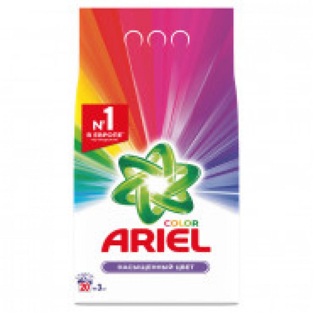 Порошок стиральный Ariel Color автомат 3кг д/цветного белья