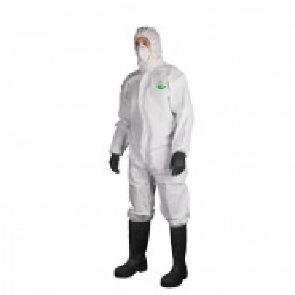Одноразовая одежда Комбинезон с капюш SafeGard76 белый р-р L (ES428)