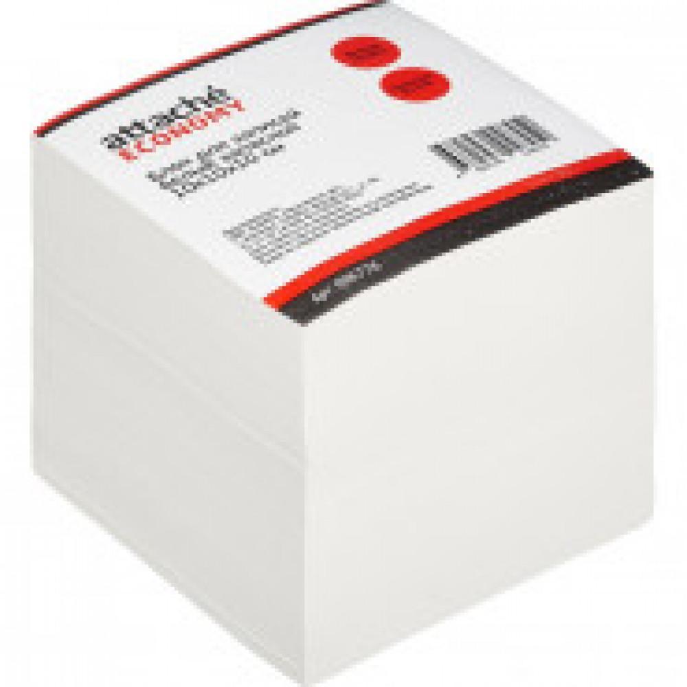 Блок-кубик ATTACHE Economy белый запасной 10х10х10см 60 г, 65%