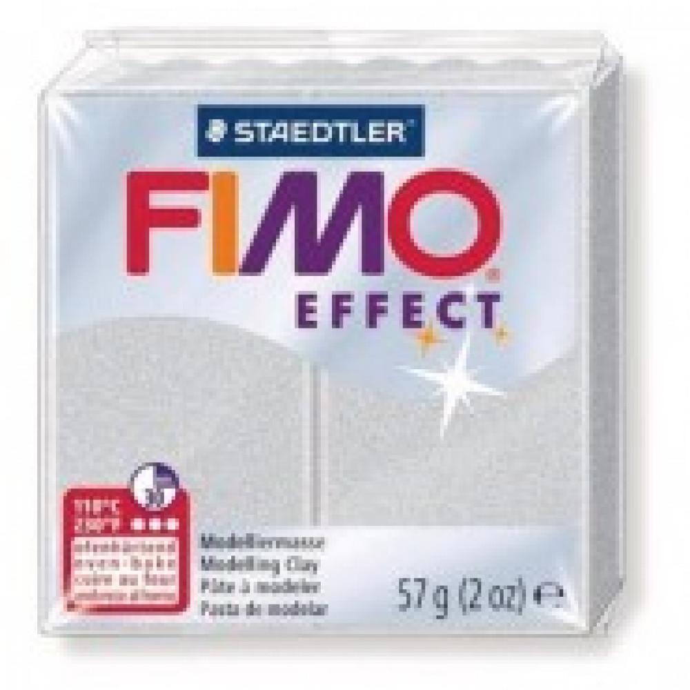Глина полимерная серебряный металлик,57гр,запек в печке,FIMO,effect,8020-81