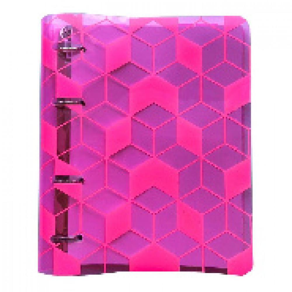 Тетрадь общая А5,120л,клетк,кольца,пласт,173х212мм Fantastic Розовый N1705p