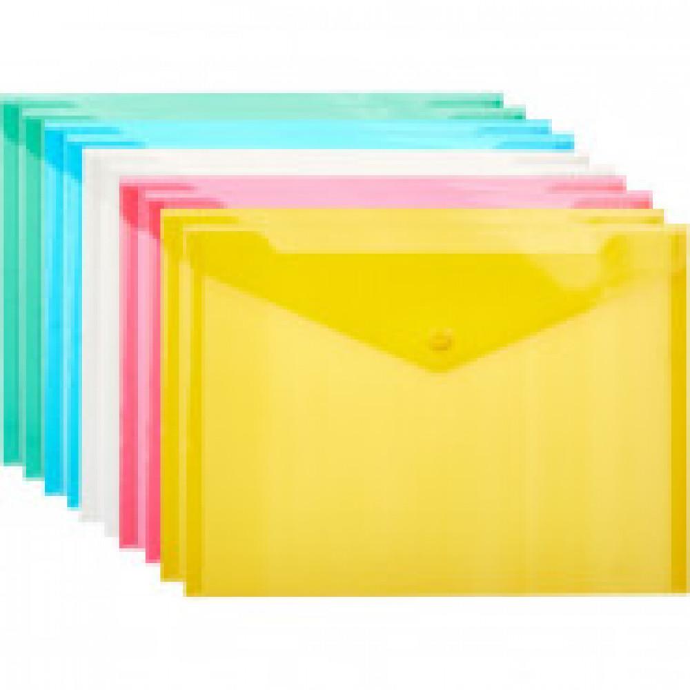 Папка конверт В5, 282x209мм, 180 мкм, Attache  ассорти, 10шт.уп.