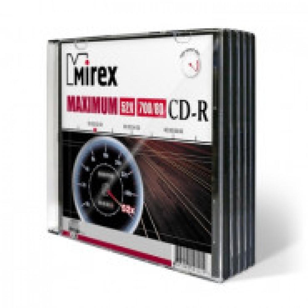 Диск CD-R Mirex 0,7 GB 52x (5 штук в упаковке)