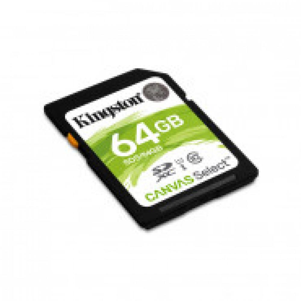 Карта памяти Kingston Canvas Select SDXC 64Gb, Class 10 UHS-I, SDS/64GB