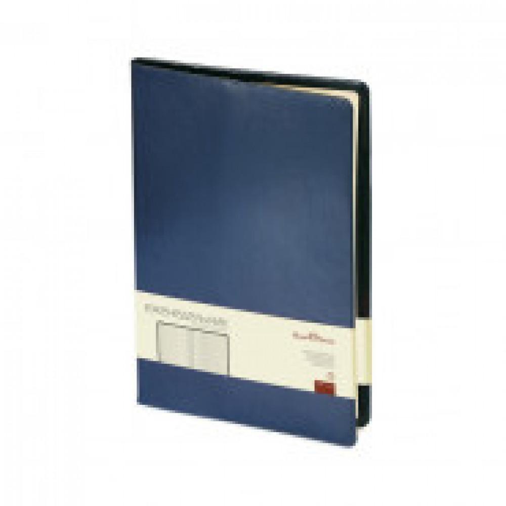 Еженедельник недатированный Bruno Visconti Profy натуральная кожа А4 64 листа синий (222х302 мм) (артикул производителя 3-098/01)