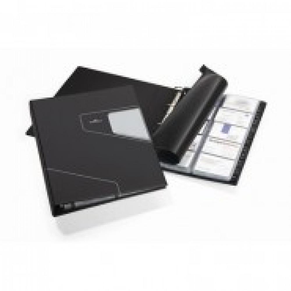 Визитница настольная Durable Visifix Pro пластиковая на 400 визиток черная