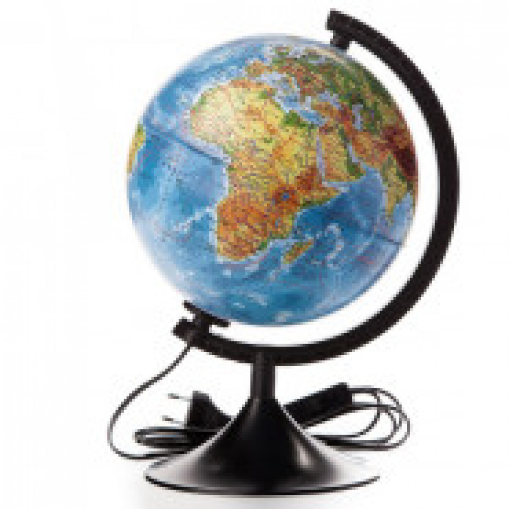Глобус физико-политический с подсветкой,210мм