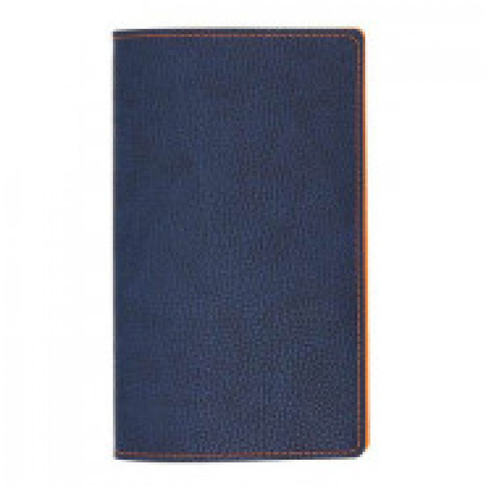 Визитница настольная А5,96виз,гибкая,синяя,оранжев.простр. АТТАСНЕ Bizon