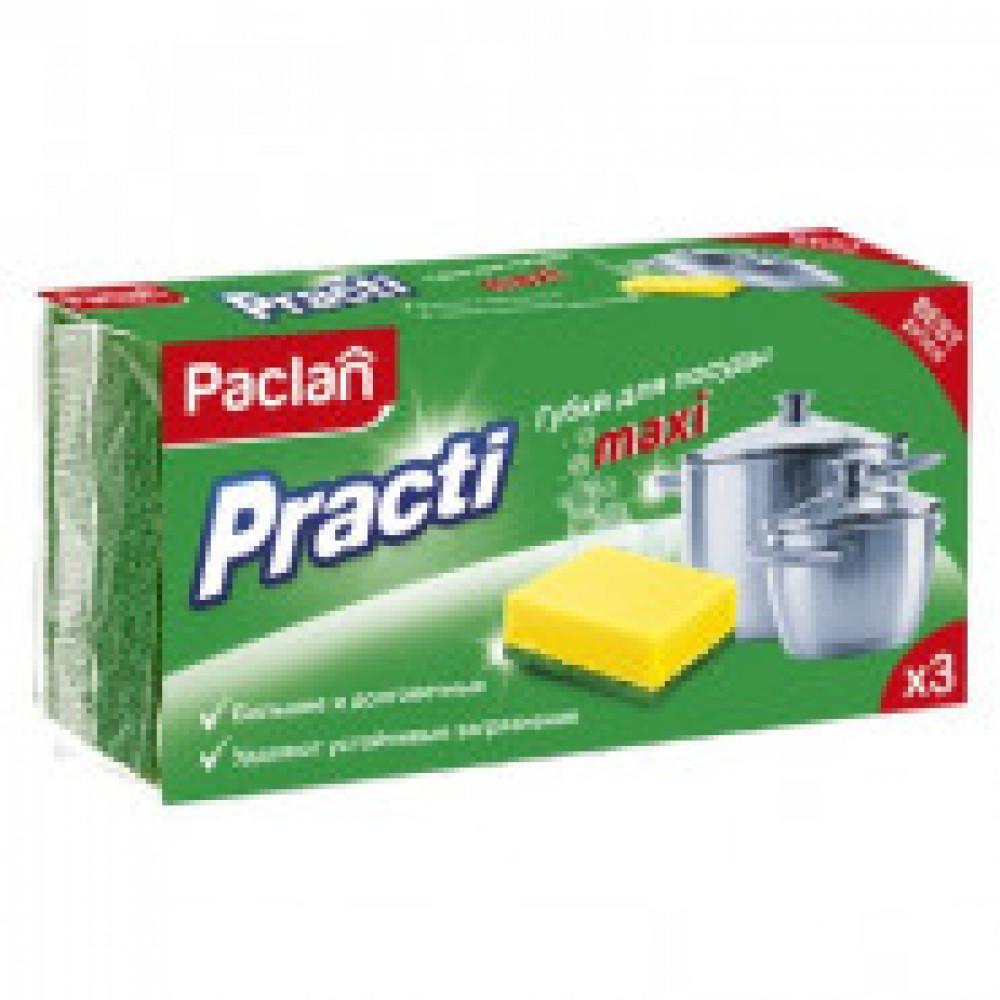 Губка для мытья посуды 3шт/уп. PACLAN