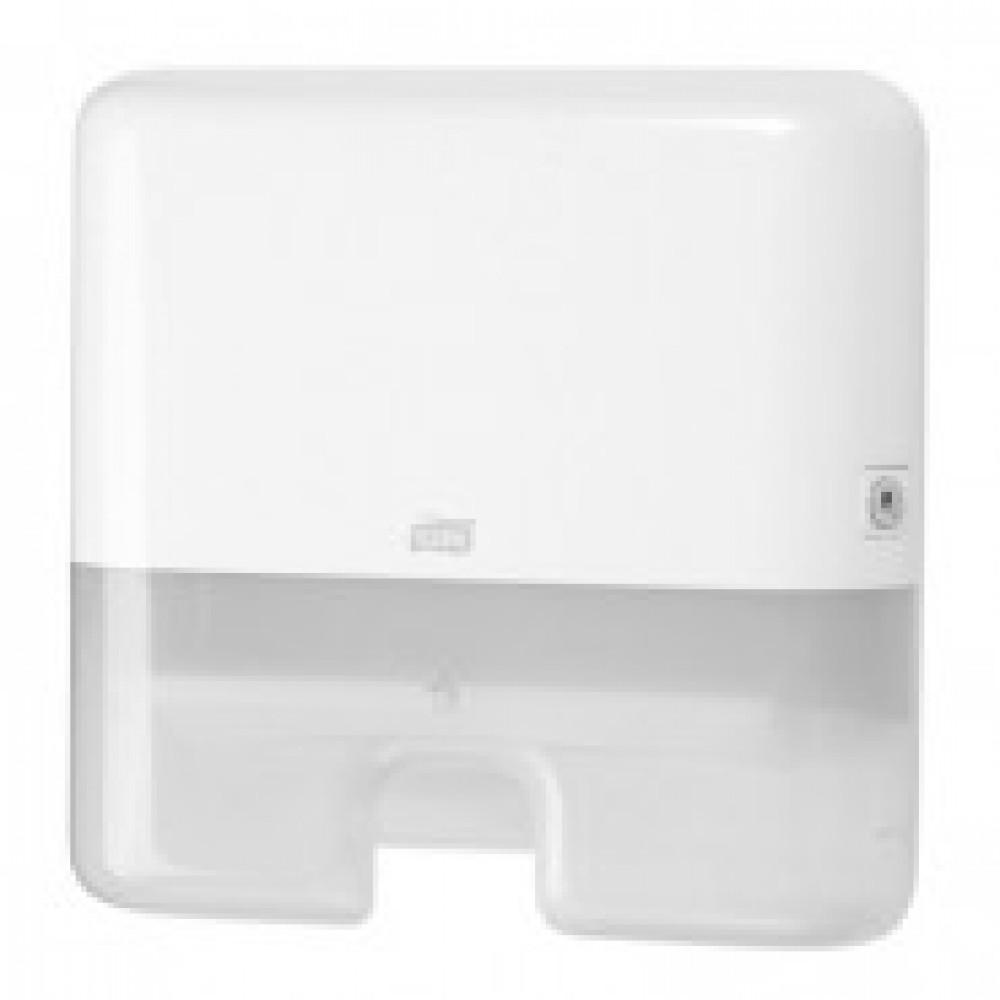 Диспенсер для листовых полотенец Tork Xpress Mini H2 пластиковый белый (код производителя 552100)