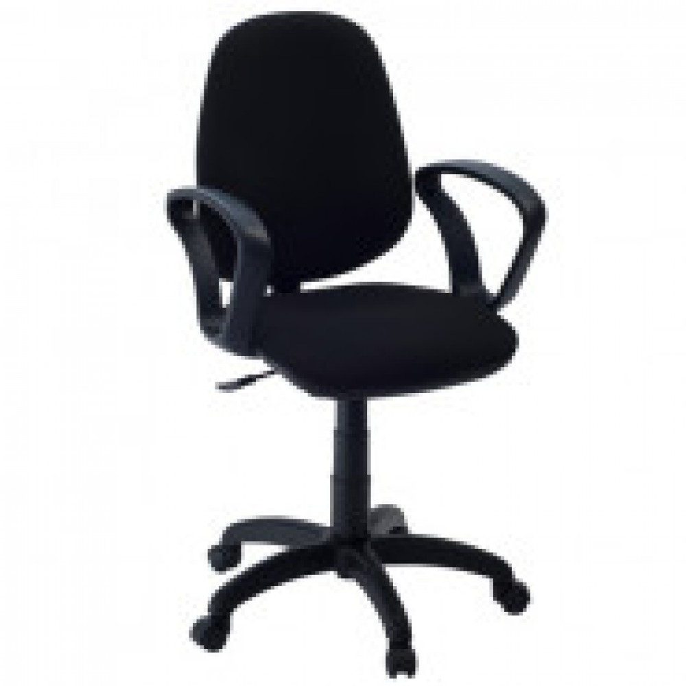 Кресло FA_EChair-322 PC ткань черная ТК1, пластик